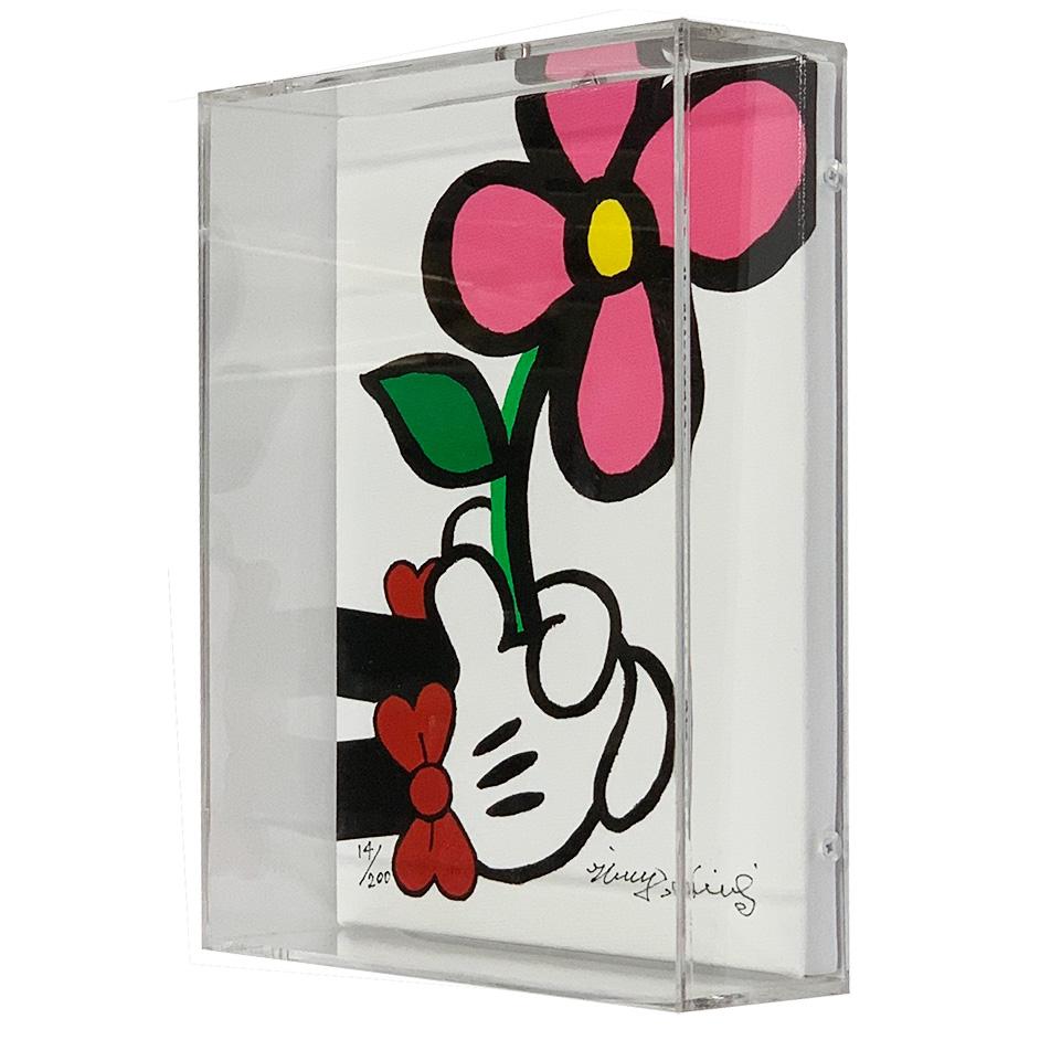 ミレイヒロキ ディズニー版画(アクリル額装完成品) ミニーマウス SHARE FLOWERS S 9081