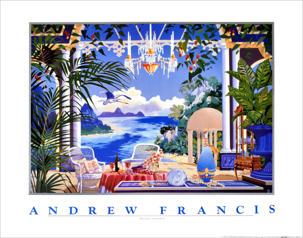アンドリュー・フランシス ポスター Distant IslandⅡ A3752