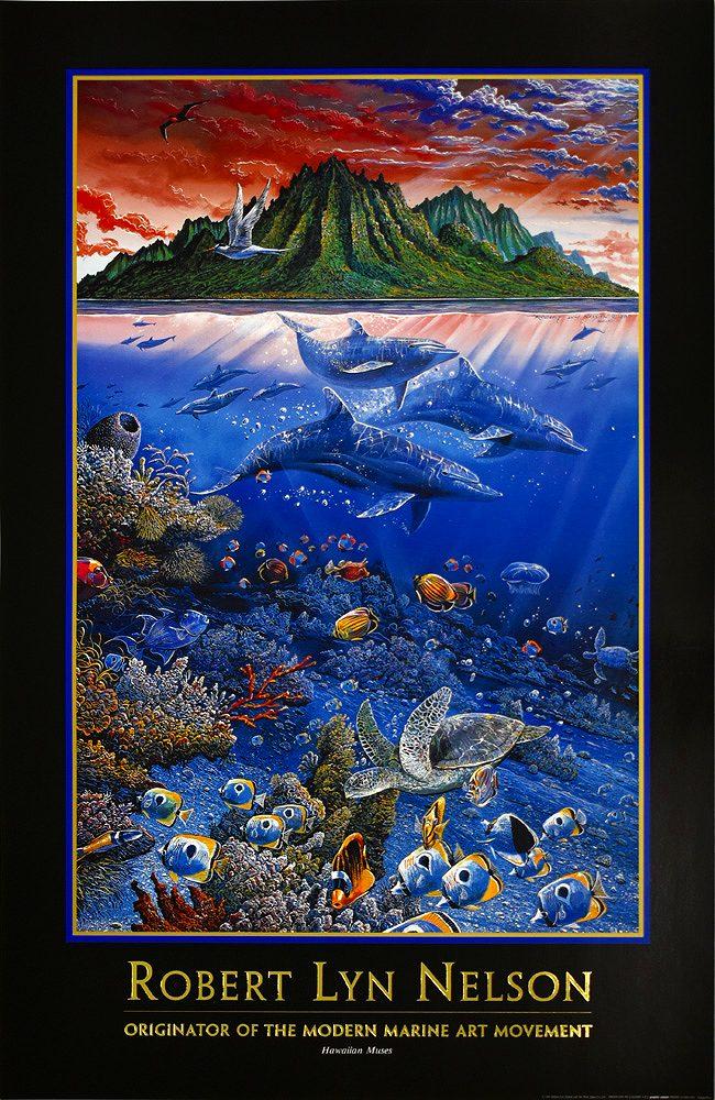 ロバート・リン・ネルソン ポスター Hawaiian Muses PO-2
