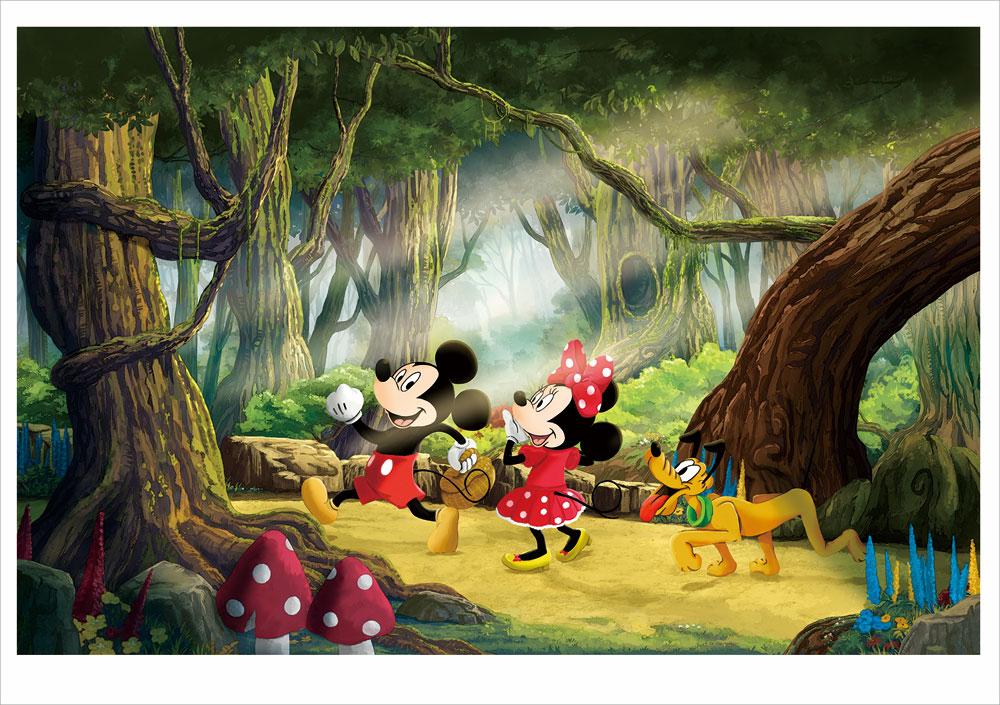 有馬憲吾 ディズニー版画(ジクレー) 森の向こうへ 9106
